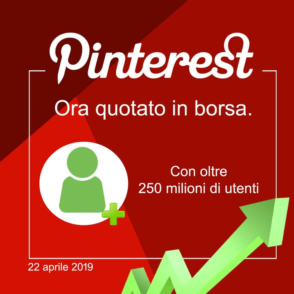 Pinterest quotato in borsa